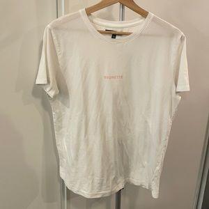 Brunette The Label Mini Logo T Shirt